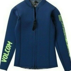 VOLCOM Youth Chesticle Wetsuit Zip Jacket--LARGE